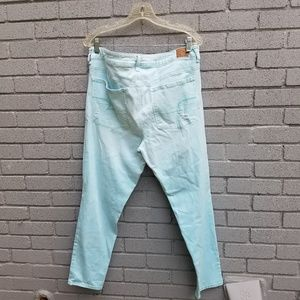 American Eagle Outfitters Jeans - AE mid-rise jeggings mint blue super stretch 18reg